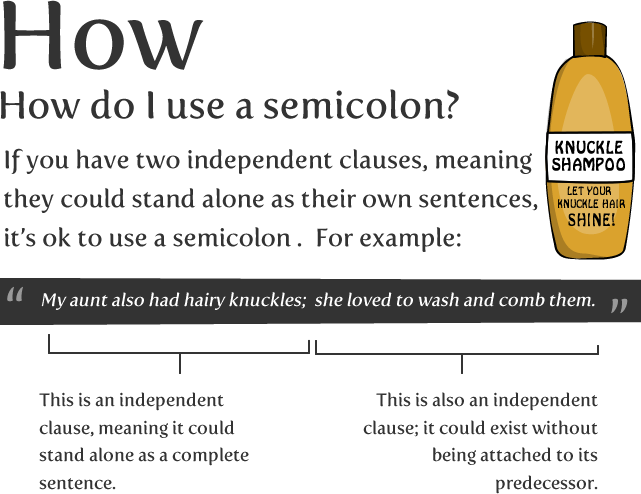 Just how to Make Use of A Semicolon