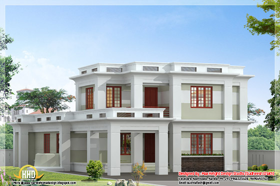 2360 square feet 4 bedroom flat roof house