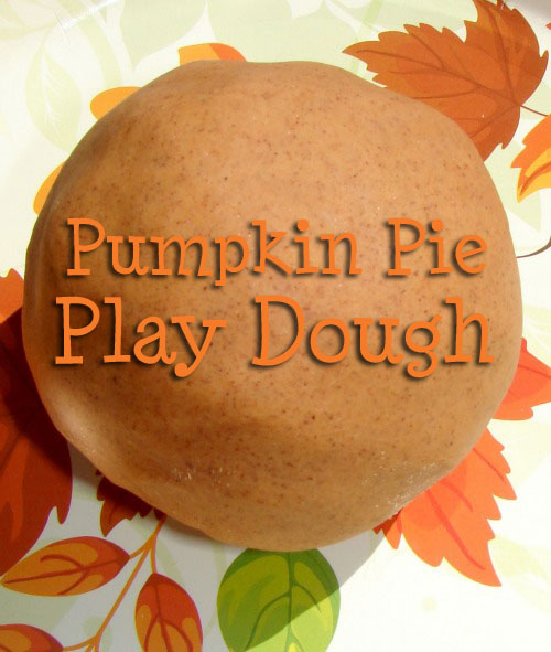pumpkin pie play dough for fall