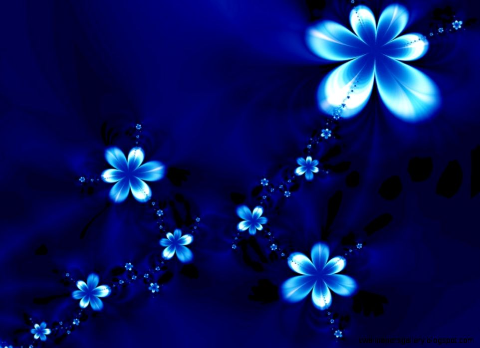 Blue Flowers Wallpaper HD Pink Vintage Black With Pink Blue 3d