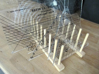 storing quilt rulers