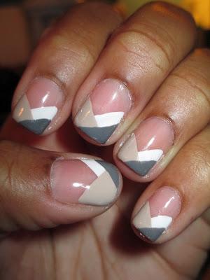 Fren tip, braided, braided tip, grey, beige, nude, white, nail art, nail design, mani