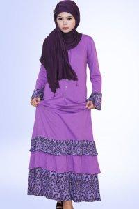 Idmonia Gamis 13 - Ungu (Toko Jilbab dan Busana Muslimah Terbaru)