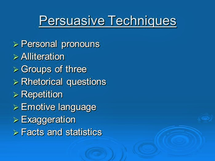 techniques of writing a persuasive essay