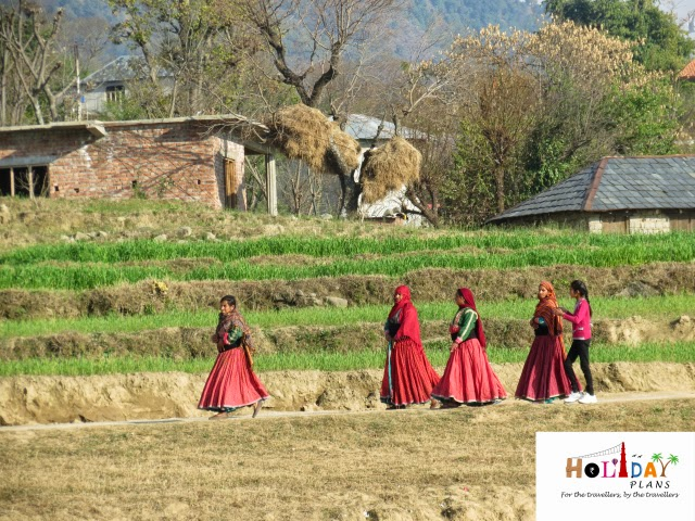 Village women at Bir