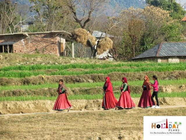 Village women at Bir