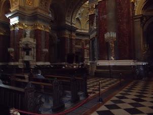 Baroque Interior of St Stephens Basilica in Budapest.