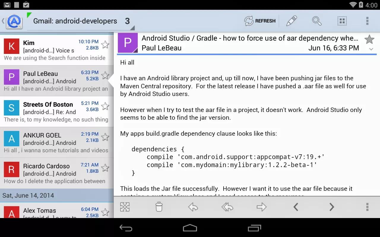 Aqua Mail Pro – email app