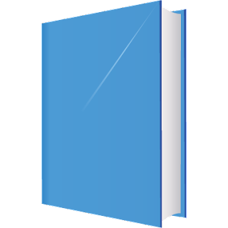 Blue book vector illustrator with different colour.