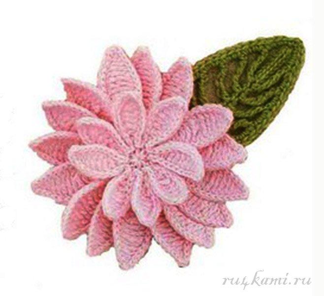 Декор цветок вязаный крючком