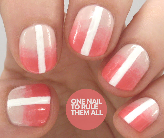 One Nail To Rule Them All Barry M Nail Art Pens Review: One Nail To Rule Them All: Gradient Stripe Nail Art