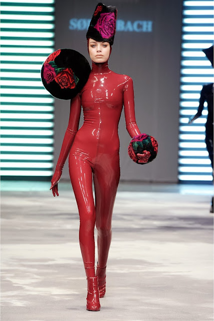 Fetish Fashion : Soren Bach Hats And Latex Catsuit From Thom Ravnholdt