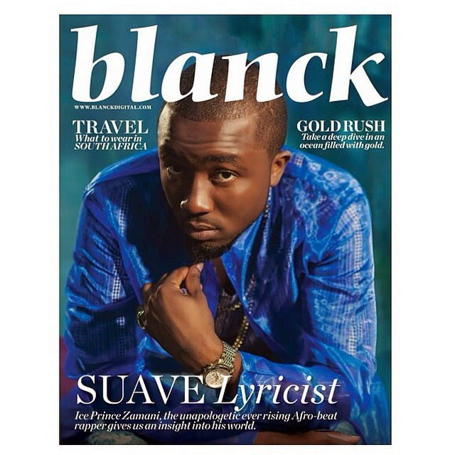 Check Out Ice Prince on The Cover of Blanck Magazine
