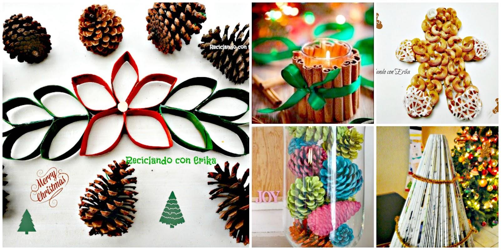 Reciclando con erika 10 ideas para navidad planea y - Como decorar reciclando ...