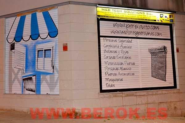 Graffitis para persianas de Barcelona
