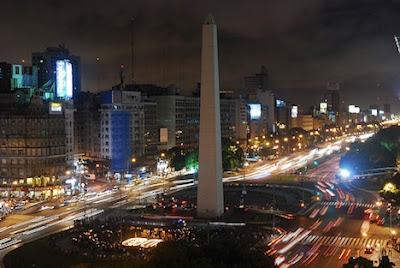 El Obelisco en Buenos Aires.