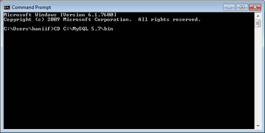 menjalankan mysql client dari command prompt