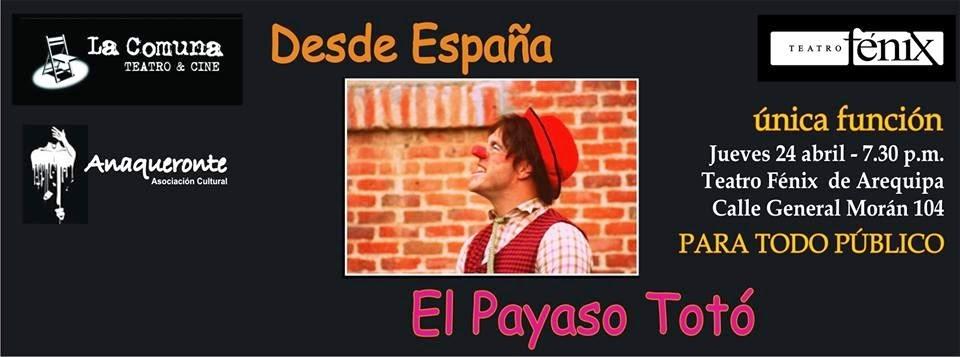 Payaso toto en Arequipa
