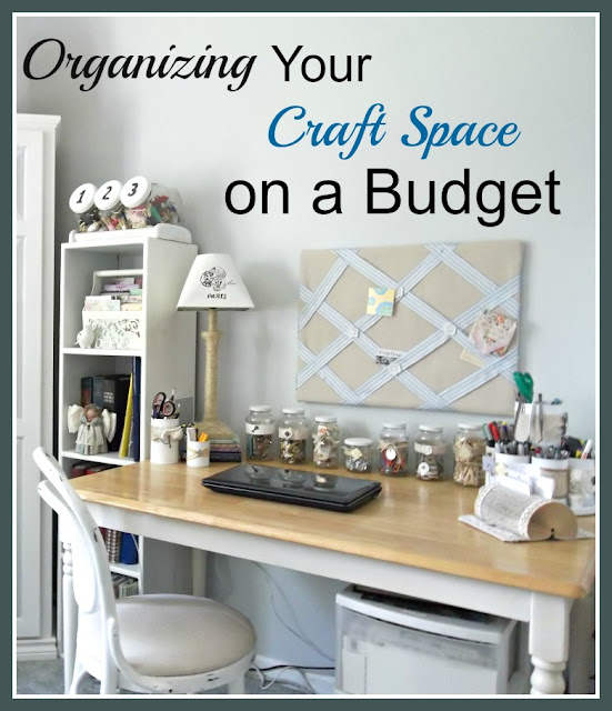 organizing your work/craft space on a budget