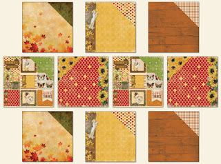 Amy's Amazing Autumn kit Coordinating Paper add on