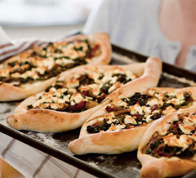 Pide With Feta & Spinach Recipe