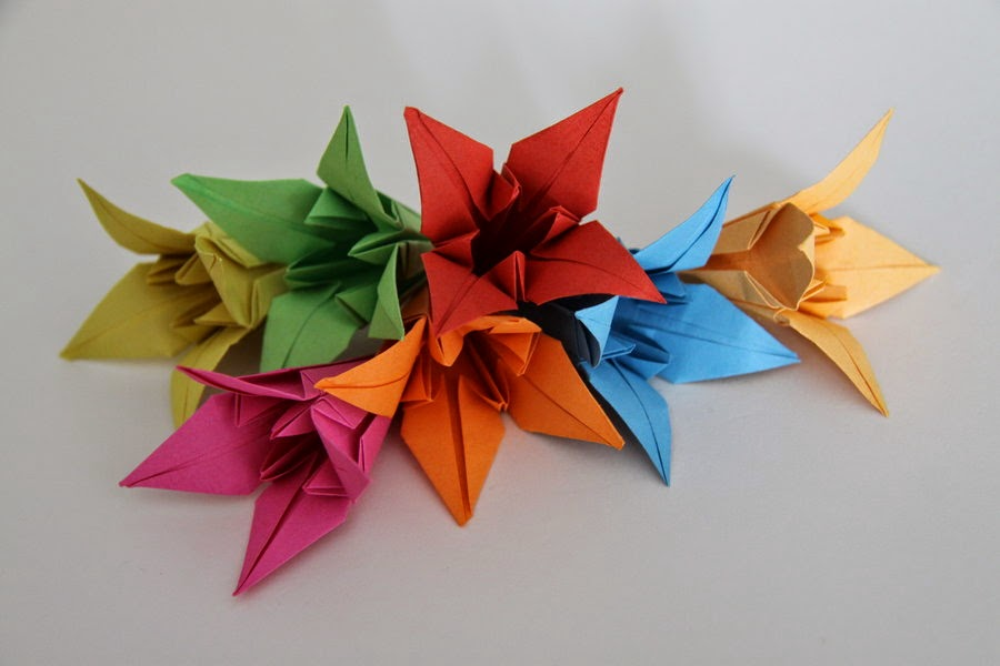 lily origami origami flower easy