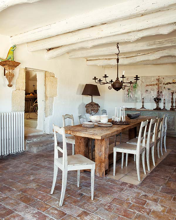 Shabby chic rural - Chic country house architecture with adorable interior design ...