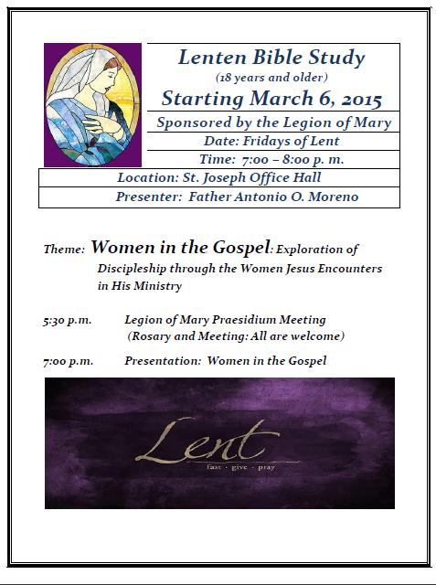 2015 Lenten Bible Study