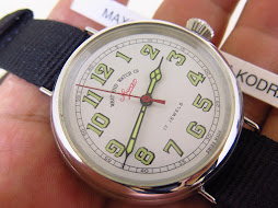 WEST END WATCH SOWAR MILITARY WHITE DIAL BIG SIZE 41mm - MANUAL WINDING