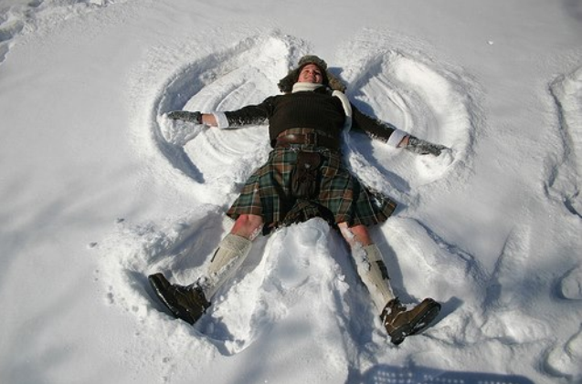 comic, joke, snow angel