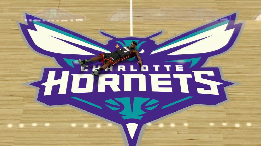 NBA 2K14 Charlotte Hornets Court Mod