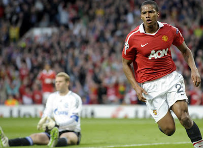Antonio Valencia Manchester United vs Schalke 04 Champions League
