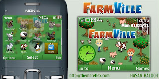 FarmVille c3 by HB Download Tema Nokia C3 Gratis