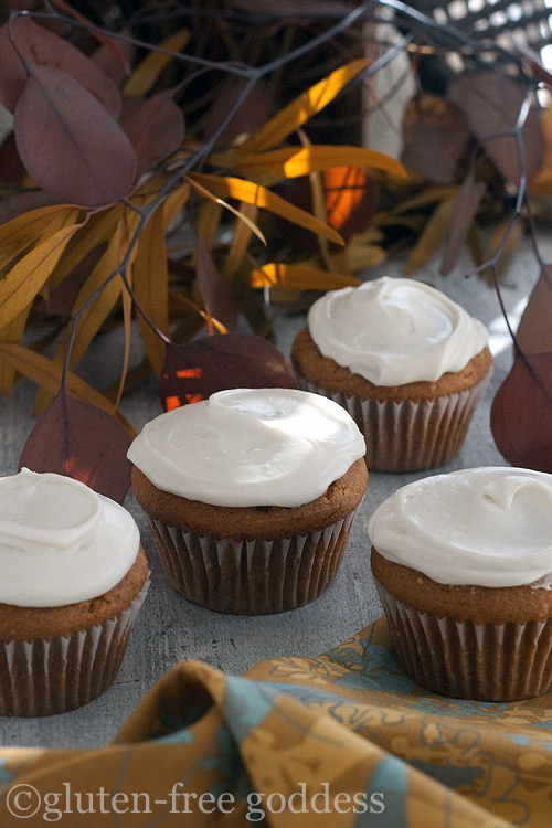 Pumpkin Cupcakes with Maple Cream Cheese Icing