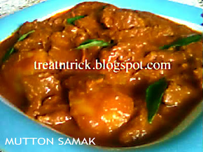 Mutton Samak Recipe @ http://treatntrick.blogspot.com