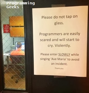 programmer scared and cry