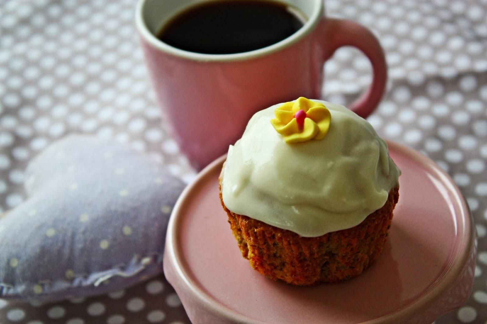 Vanille Kamille Cupcakes mit Honig Sahne Frosting