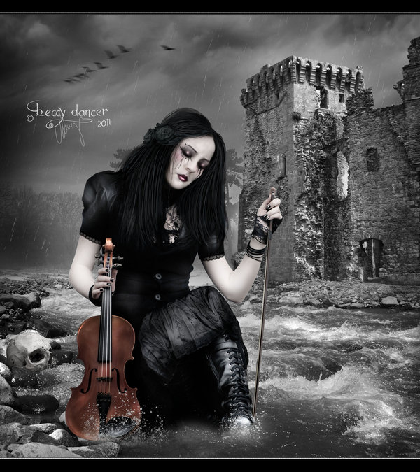 the mournful euphony by tudorxrose d38gwya Masterful Examples of Dark Photo Manipulation Art
