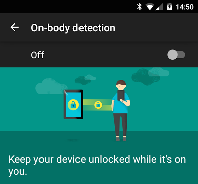 Google Adding (On Body Detection) Security Feature