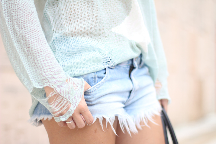 Denim shorts for Autumn by bloggers