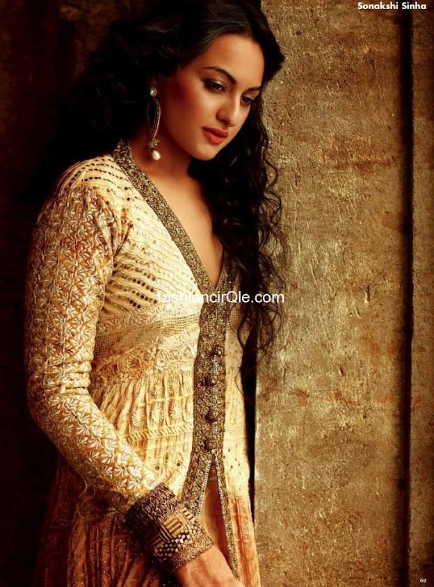 Sonakshi sinha looking ravishing in a longsleeve dress  - (4) -  Sonakshi Sinha  OK! India &#8211; June 2012 orange dress