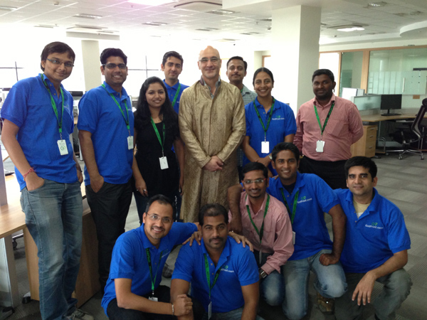 GotPrint poses for a staff pictures in India