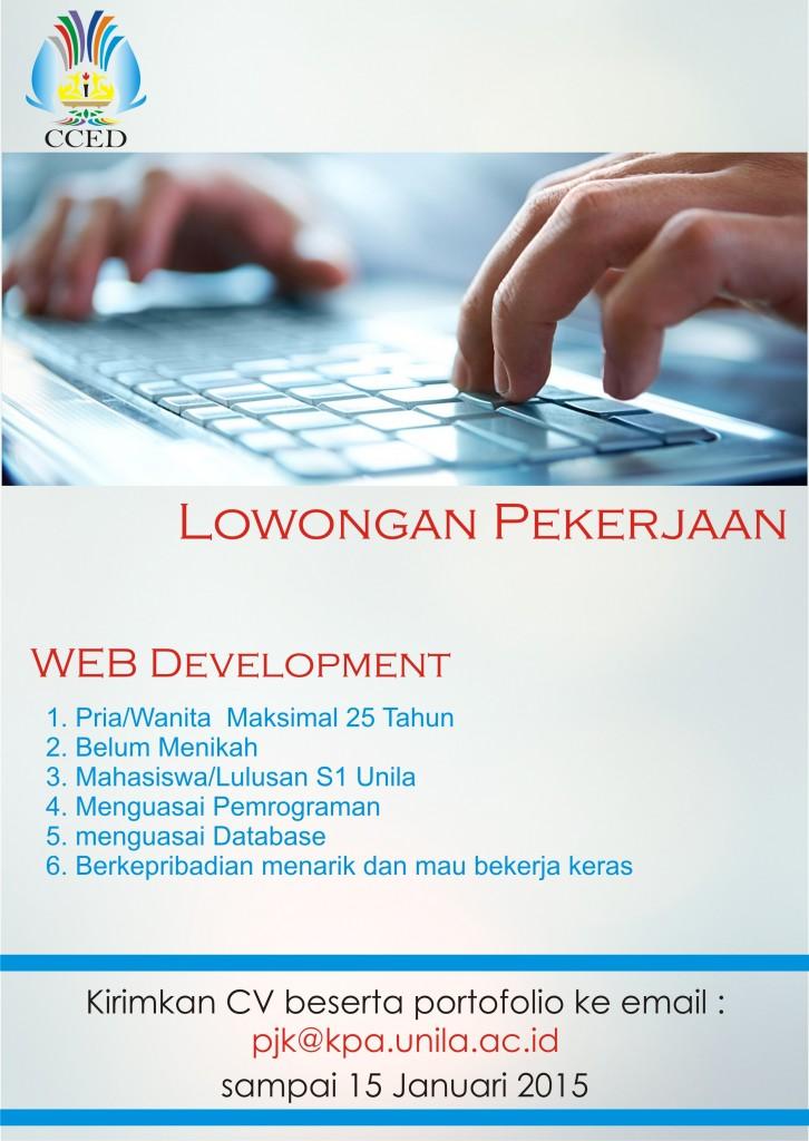 Lowongan Kerja Web Development Januari 2016