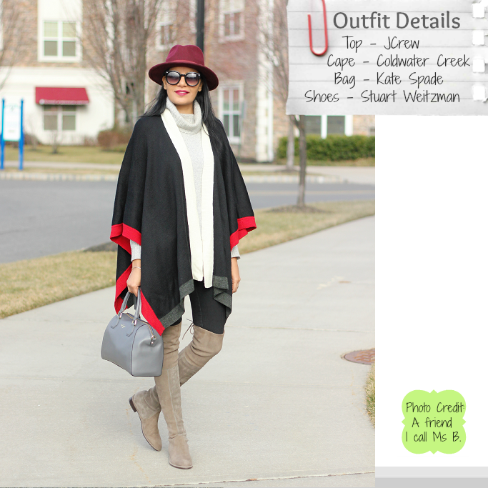 Stuart Weotzman Lowland Boots, How to wear a cape, How to wear a ruana