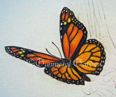 The Gunmetal Garden: Colored Pencil Tutorial: Monarch ...