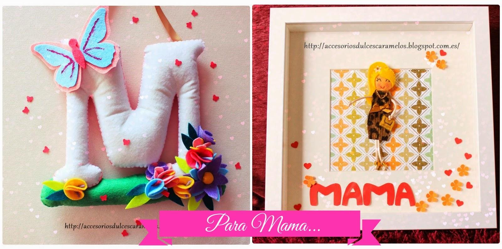 regalo dia de la madre, inicial fieltro y marco muñeca
