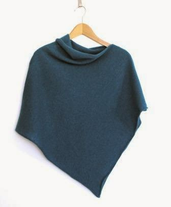 Ma Bicyclette - Buy Handmade - Clothing For Women - FINESSE KNITS - Teal Lambswool Poncho