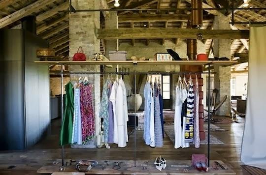 open closet, interiors
