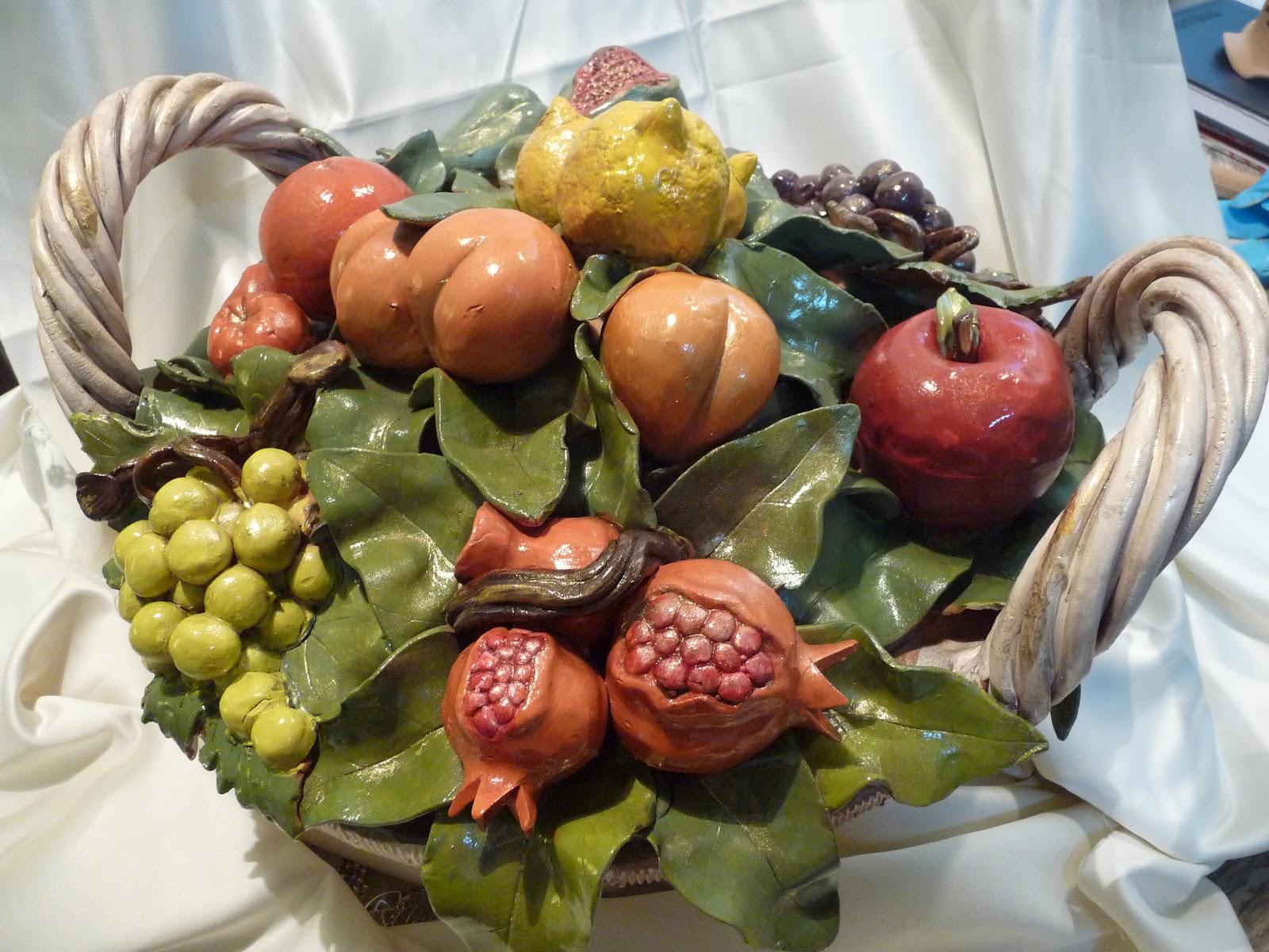 Ceramichelaura cesto di frutta for Cesto di frutta disegno