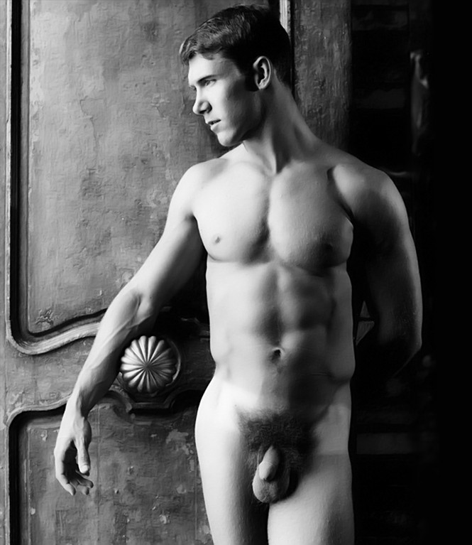 nude men sexy bw